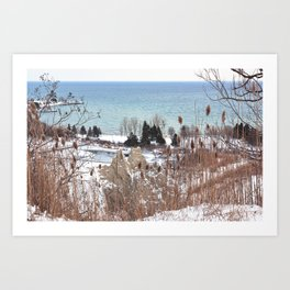 Scarborough Bluffs in Winter on December 27th, 2020. III Art Print