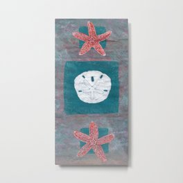 Starfish Painting Design By Catherine Coyle Metal Print