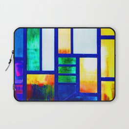 Art Deco Colorful Stained Glass Laptop Sleeve