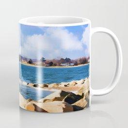 New England Shoreline - Painterly Coffee Mug