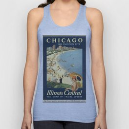 Chicago, The Vacation City - Vintage Poster Unisex Tank Top