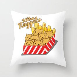 Cute Cats Chicken Nuggets Lover Throw Pillow