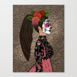 Rosa Maria on the Day of the Dead Canvas Print