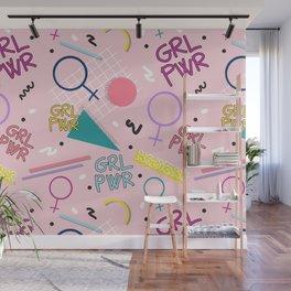 GRL PWR #society6 #pattern #grlpwr Wall Mural