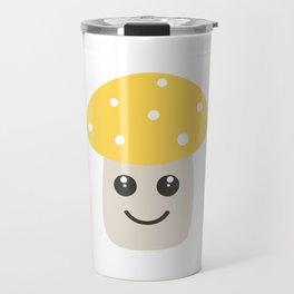 Cute yellow toadstool Travel Mug