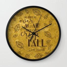 Crisp in the Fall Wall Clock