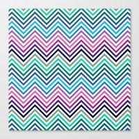 herringbone Canvas Prints featuring Herringbone by Adikt