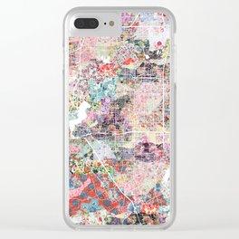 Arlington map Texas Clear iPhone Case