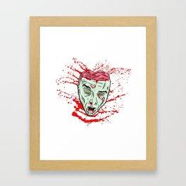 Zombie: Blooded Head Framed Art Print