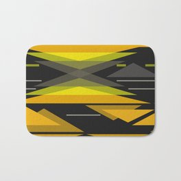 Black and yellow abstract geometric pattern . Bath Mat