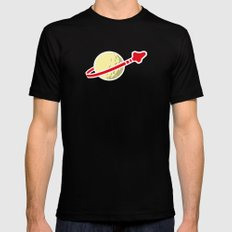 Space 1980 LARGE Mens Fitted Tee Black