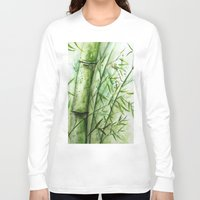bamboo Long Sleeve T-shirts featuring Bamboo by rchaem
