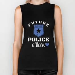 Future police department 911 police officer police t-shirts Biker Tank