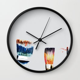 Brushes Wall Clock