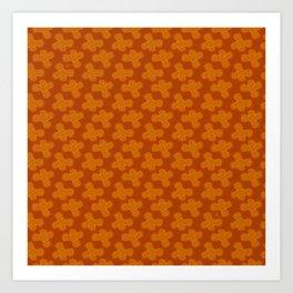Stars Tribal Motif Seamless Pattern Art Print