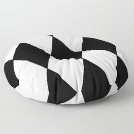 LARGE BLACK AND WHITE HARLEQUIN DIAMOND PATTERN Floor Pillow