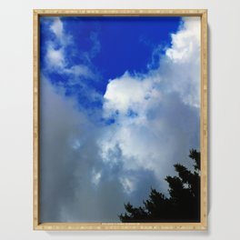 Sky and Cloud Serving Tray