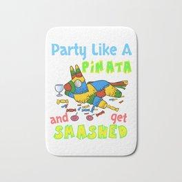 Funny Let's Get Smashed Pinata Cinco De Mayo Design Bath Mat