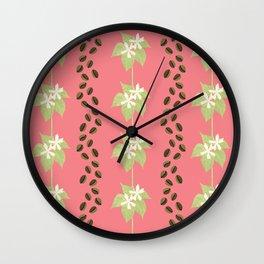 Coffee Bean Dreams (in Pink) Wall Clock