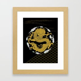 Traditional Gold Dragon Framed Art Print