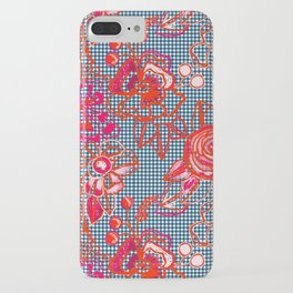 Floral Gingham iPhone Case