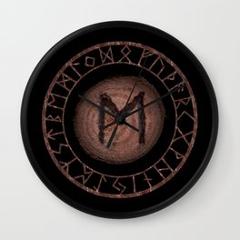 Eihwaz Elder Futhark Rune Strength, reliability, dependability, trustworthiness. Enlightenment Wall Clock