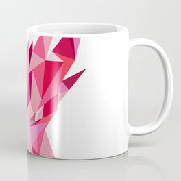 Dragon Head Front Low Polygon Style Coffee Mug