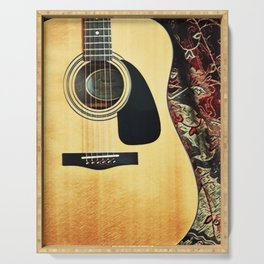 Heart Strings By Inez Benoit - My Guitar Gently Weeps Serving Tray