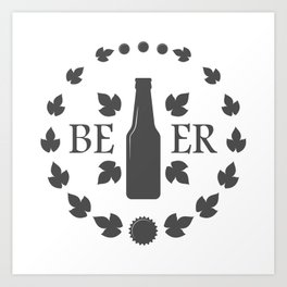 Bottle Craft Beer style Fashion Modern Design Print! Set Beer Pub Brewery Handcrafted Art Print
