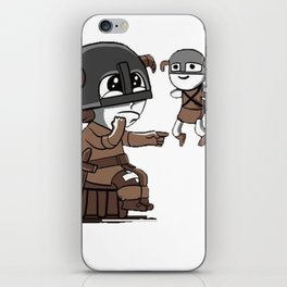 Skyrim Meme Where did the arrow touch you? iPhone Skin