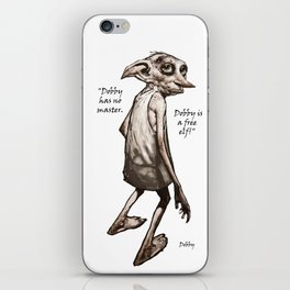 Dobby is a free elf iPhone Skin