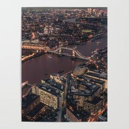London #society6 #decor #buyart Poster
