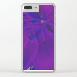 Star Gazer Lilly Up Close Solarized Colors Clear iPhone Case