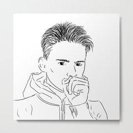 I Draw Guys: Elliott Metal Print