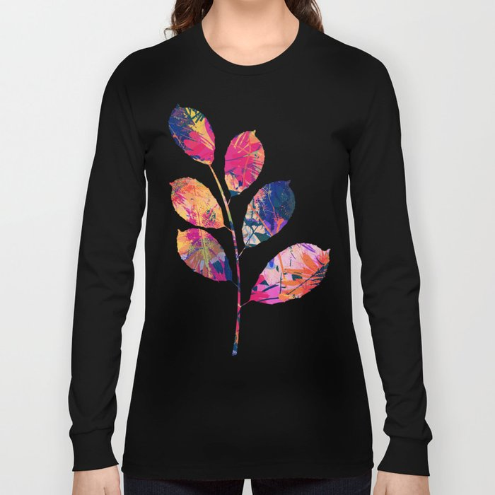 Colorful abstract leaves 2 Long Sleeve T-shirt