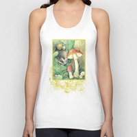 mushrooms Tank Tops featuring Mushrooms by Natalie Berman