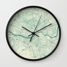 Newcastle upon Tyne Blue Vintage Wall Clock