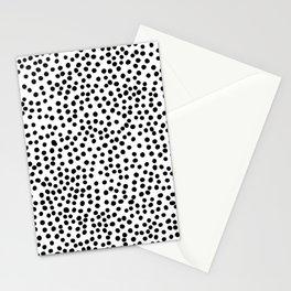 Black Polka Dots Stationery Cards