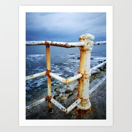 Winter sky meets winter sea. Art Print