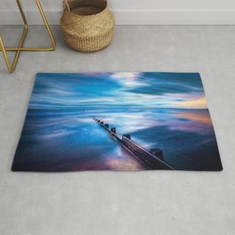 Seascape Sunset Art Rug