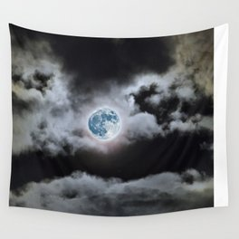 Blue Moon I Wonder Wall Tapestry