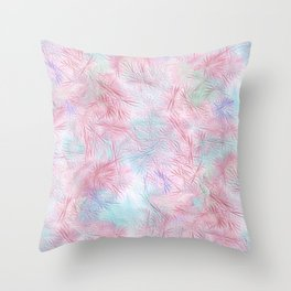 Tangled Pink Fireworks Throw Pillow