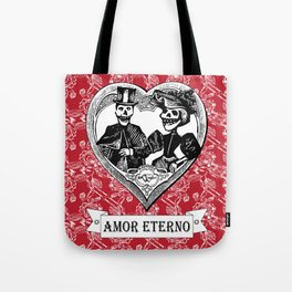 Amor Eterno | Eternal Love | Red and Black Tote Bag