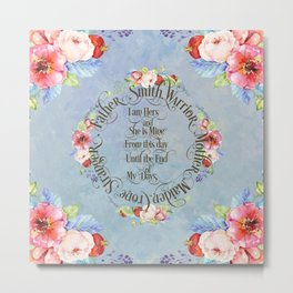 I am hers and she is mine. GOT Wedding Vows Metal Print