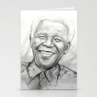 mandela Stationery Cards featuring Mandela by Tamara Patrick