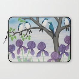 tree swallows & irises Laptop Sleeve