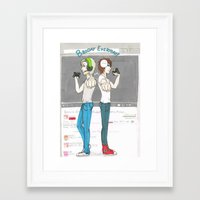pewdiepie Framed Art Prints featuring Broday Everyday by SofusGirl