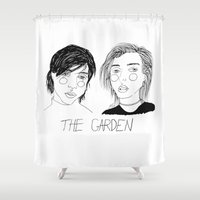 cactei Shower Curtains featuring The Garden by ☿ cactei ☿