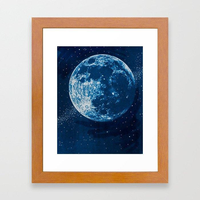 Big Blue Moon Framed Art Print