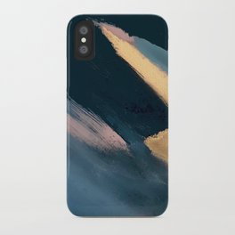 Ignite: colorful abstract in blue pink and gold iPhone Case